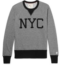 Todd Snyder Champion Two Tone Loopback Cotton Jersey Sweatshirt Gray