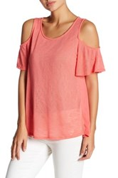 Gibson Cold Shoulder Tee Pink