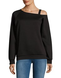 Necessary Objects Cold Shoulder Sweatshirt Black