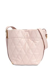Givenchy Mini Gv Quilted Leather Bucket Bag Light Pink