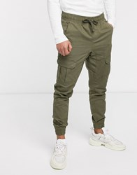 Another Influence Cuffed Cargo Pants Green