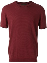 Altea Striped T Shirt Red