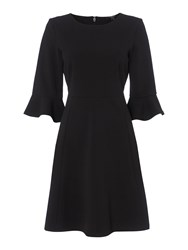 Therapy Hannah Fluted Sleeve Dress Black