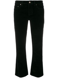 Saint Laurent Cropped Fitted Jeans Black