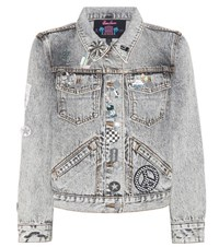 Marc Jacobs Embellished Denim Jacket Grey