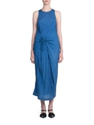 Haider Ackermann Silk Tank Dress Blue