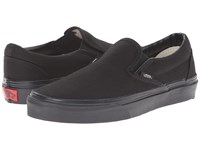 Vans Classic Slip On Core Classics Black Black Canvas Shoes