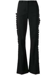 Capucci Frill Trim High Waist Trousers Black