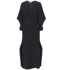 Edun Silk Crepe De Chine Dress Black