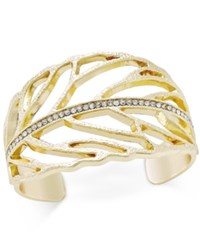 Inc International Concepts Pave Cuff Bracelet Only At Macy's Gold