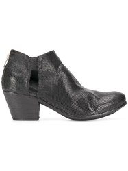 Officine Creative Giselle Woven Ankle Boots Black
