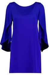 Milly Butterfly Silk Blend Mini Dress Blue