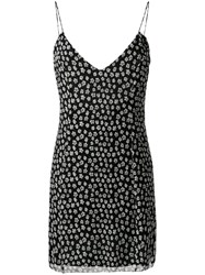 Amiri Floral Mini Dress Black