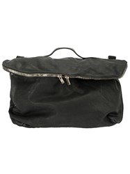 Guidi Flap Zipped Crossbody Bag Black