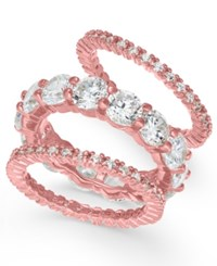 Joan Boyce 3 Pc. Set Crystal Rings Pink