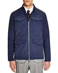 Hardy Amies Nylon Four Pocket Jacket Navy