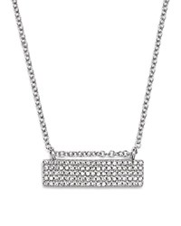 Kc Designs 14K White Gold Diamond Pave Bar Necklace 16