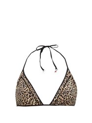 The Upside Leo Christy Leopard Print Triangle Bikini Top Leopard