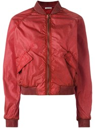 Tomas Maier Classic Bomber Jacket Red