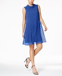 Connected Petite Flyaway Trapeze Dress Bright Royal