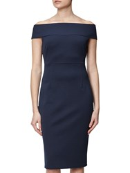 Adrianna Papell Off Shoulder Fitted Dress Blue Moon