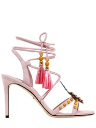 Dolce And Gabbana 85Mm Keira Pineapple Suede Sandals