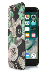 Ted Baker London Clarna Iphone 7 And 7 Plus Mirror Folio Case Black Multi