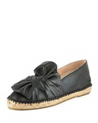 Patricia Green Knot Leather Espadrille Loafer Black