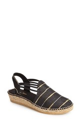 Women's Toni Pons 'Nantes' Silk Stripe Sandal Stripe Black