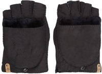 Mackage Black Shearling Lennon Gloves