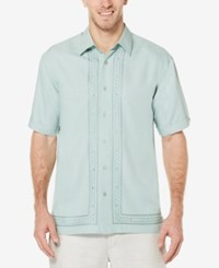 Cubavera Men's Embroidered Shirt Jadeite
