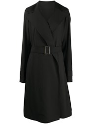 Rick Owens Wide Lapel Trench Coat 60