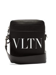Valentino Vltn Leather Cross Body Bag Black