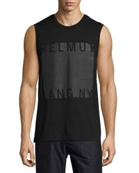 Helmut Lang Coated Logo Muscle T Shirt Black