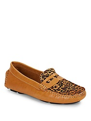 Saks Fifth Avenue Penny Calf Hair And Leather Moccasins