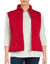Calvin Klein Plus Quilted Puffer Vest Red