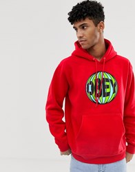 Obey Ball Hoodie In Red
