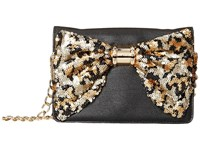 Betsey Johnson Oh Bow Wallet On A String Black Leopard Cross Body Handbags Multi