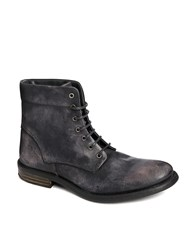 River Island Military Boots Black