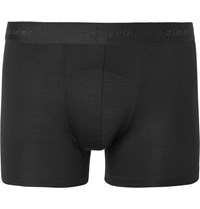 Zimmerli Pureness Stretch Micro Modal Boxer Briefs Black