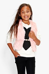 Boohoo Supersoft Faux Fur Gilet Pink