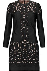 Temperley London Luz Embroidered Silk Blend Mini Dress Black