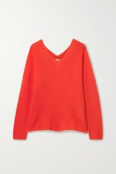 Maje Cashmere Sweater Bright Orange