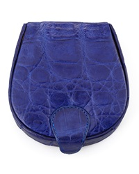 Walter Steiger Crocodile Cuff Link Case Royal Blue