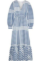 Iris And Ink Woman Kayla Printed Georgette Maxi Dress Blue