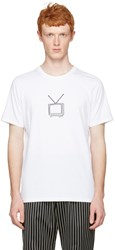 Rag And Bone White T.V. Embroidery T Shirt