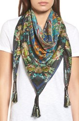 Johnny Was Women's Sathya Square Silk Scarf Mixed Print