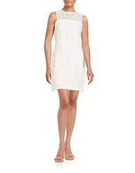 Shoshanna Crochet Shift Dress Off White