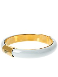 Diane Von Furstenberg Love Is Life Goldtone And White Bracelet Gold White