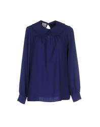 Douuod Shirts Blouses Women Bright Blue